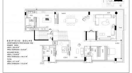 Penthouse 1002 - PLANO PRIMER NIVEL